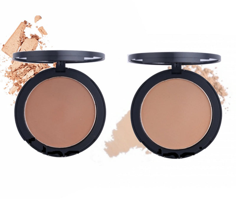 Our Cream Pressed Powder Foundation is a powder and foundation combined in one portable compact! Long-wearing, full-coverage powder works as an over-foundation finisher or as a powder foundation.   Benefits:  2 in 1 Full Coverage Waterproof Infused SPF Cruelty Free Vegan Ready for you to add your logo! Inquire at info@tashcosmetics.com