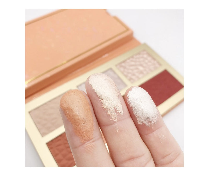Luminous Highlighter and Blush Combo Palette - MQO 12 pcs