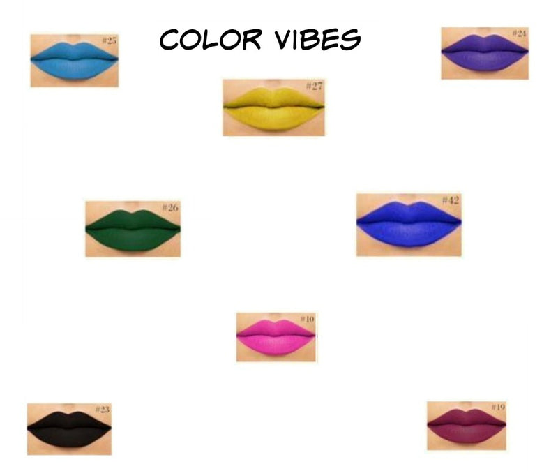 Color Vibes Intense Liquid To Matte Lipstick - MQO 12 pcs