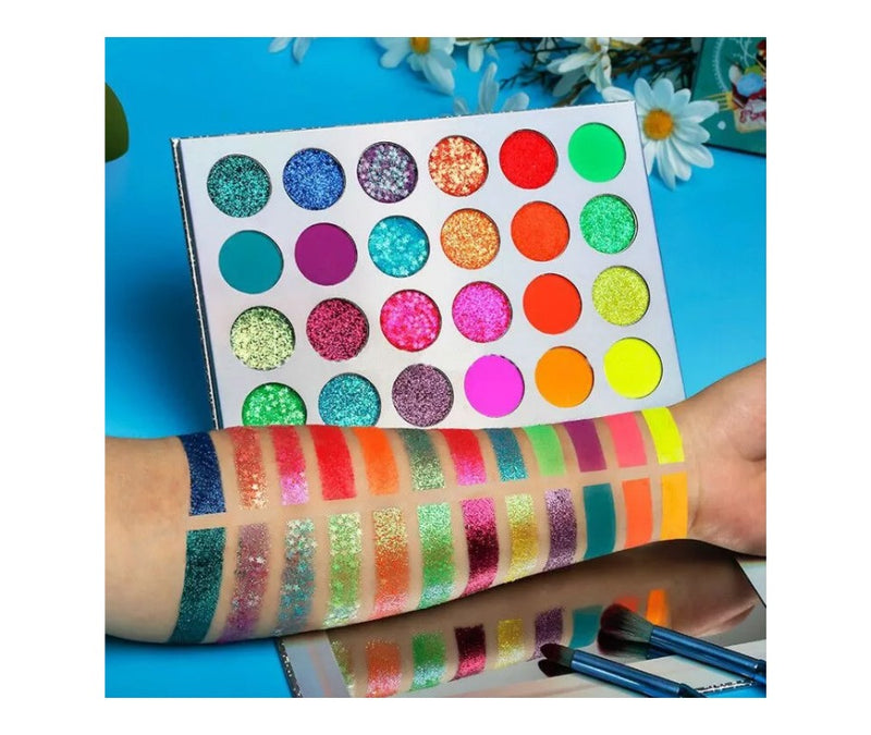 Neon Glow In The Dark 24 Shade Palette MQO - 12 pcs