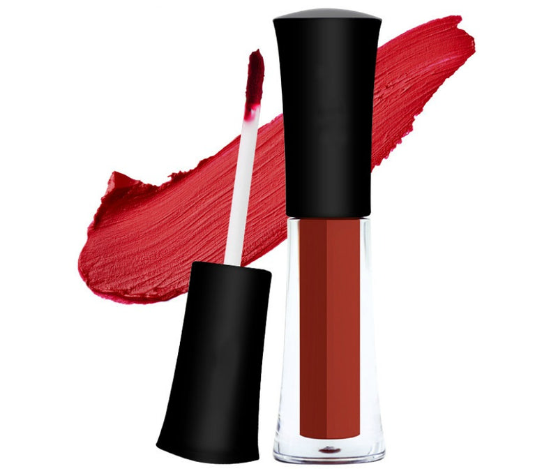 Our Matte Liquid Lipstick is a highly comfortable, long wear liquid lipstick that dries matte with intense color pay-off and transfer-proof properties. The tried and true comfort-wear formula is infused with antioxidants and an exclusive complex to help maintain the lips' hydration. The lightweight formula glides on a thin coat of color that intensifies as it sets to a matte, transfer-free finish with amazing staying power. You might even forget you're wearing anything on your lips at all! The must-have sha