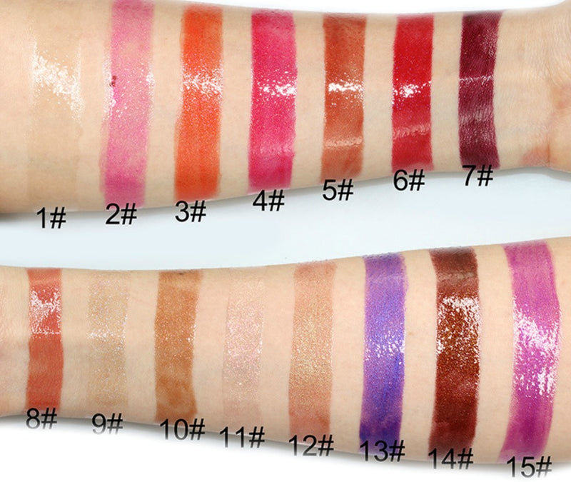 Our Shimmer Lip Gloss is an infused formula that offers gorgeous shimmer and high shine. The enriched formula conditions and offers antioxidant protection while providing non-sticky, but long-lasting color. It glistens in light, adding instant dimension to lips.    Can be hot stamped with your logo! Inquire at info@tashcosmetics.com