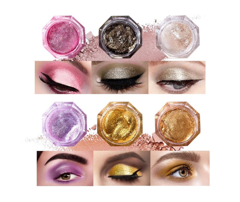 This Gorgeous Diamond Pigment Eyeshadow Powder delivers a soft-focus effect with 6x more raw mica pigment than other shadows on the market today. Multidimensional pigments blend to skin with ease, are layerable weightless, creamy and smooth. Each beautiful container holds a full 30g of eyeshadow.      Can add your logo! MQO 50pcs with VIP special discount. Inquire at info@tashcosmetics.com