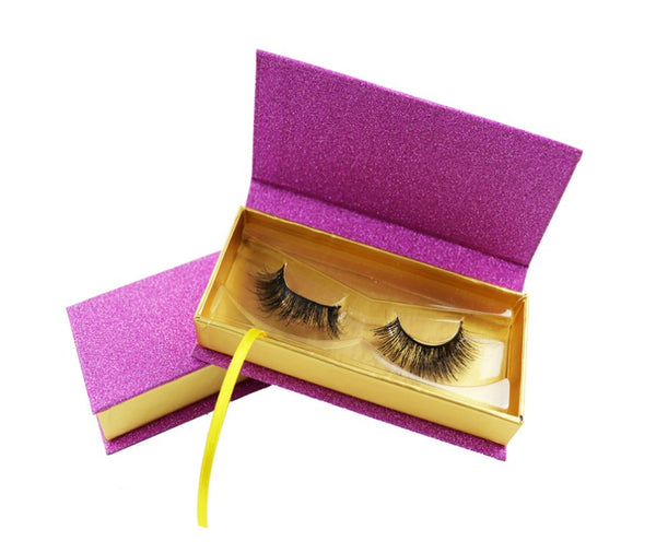 Customized Logo Pink and Gold Eyelash Box - MQO 100 pcs