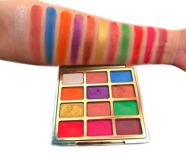 New! Dazzle Case Eyeshadow Palette High Pigment - MQO 50 pcs