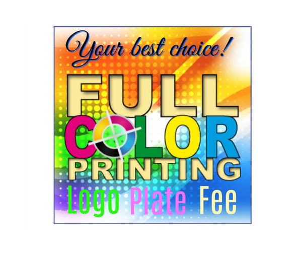 Full Color Print Logo Plate Fee