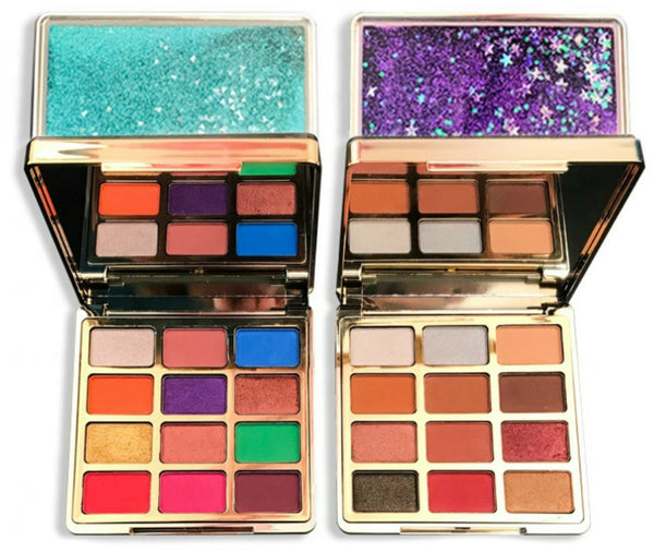 Our New Dazzle Case Eyeshadow Palette is highly pigmented, explosive and expressive!   These pigmented, beautiful shades have been hand picked for their superior color and coverage. Water resistant, these gorgeous shades have been infused with primer to ensure long lasting wear. With these fabulous mixes of finishes, our palettes will stun even the pickiest customers!