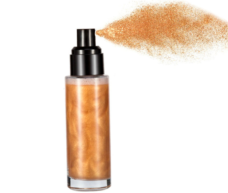 Bronze-Face and Body Shimmer Spray - MQO 12 pcs