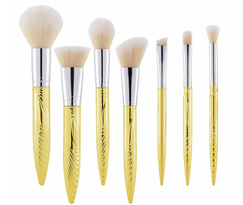 7 pc Pro Sleek Gold Tip Brush Set - MQO 12 pcs