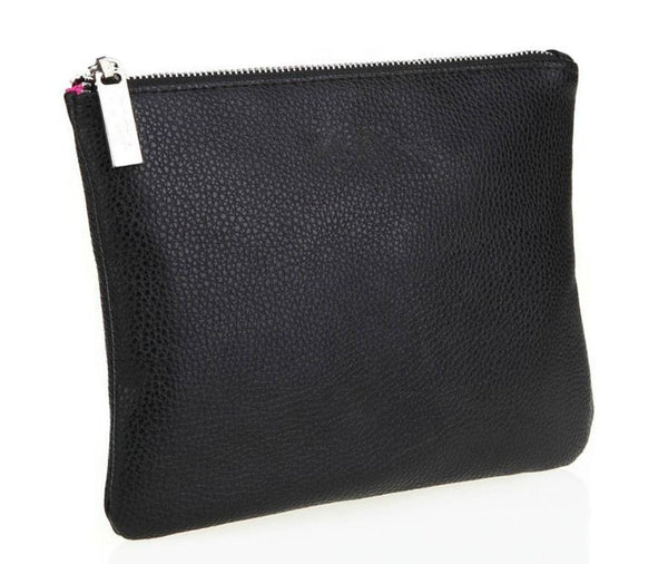 Zipper Pouch Cosmetic Makeup Bag - Black  MQO 12 pcs