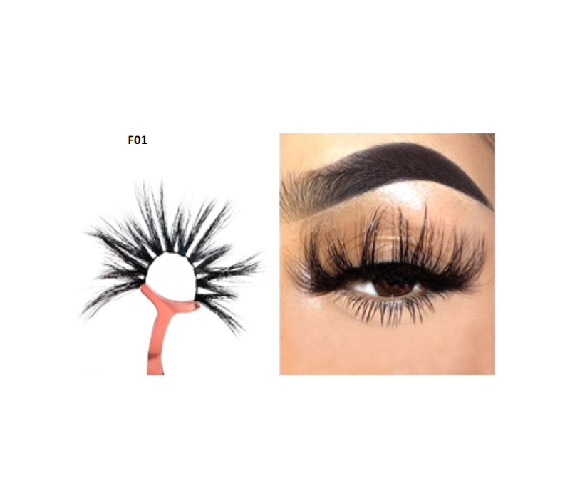 Faux Mink 5D Lashes #F1 - MQO 12 pcs