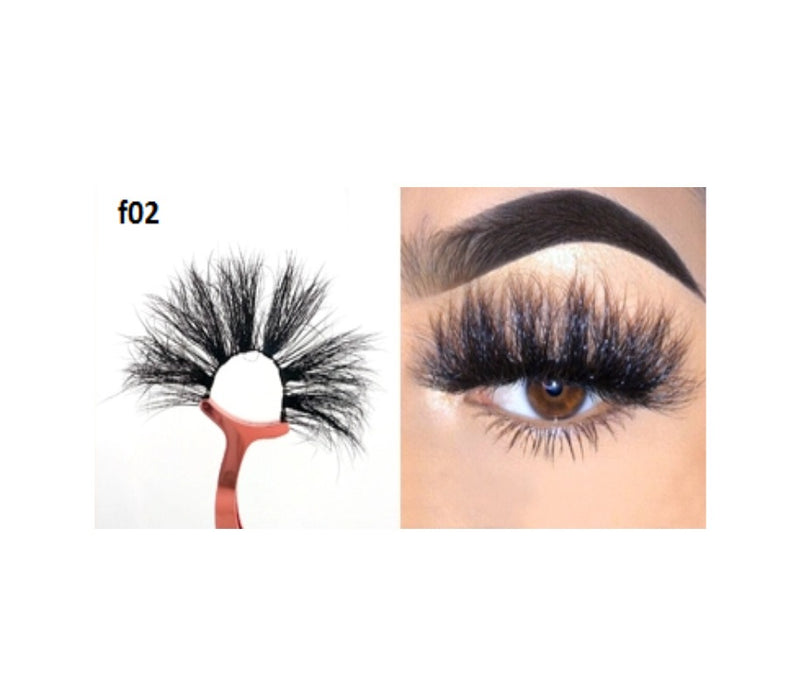 Faux Mink 5D Lashes #F2 - MQO 50 pcs