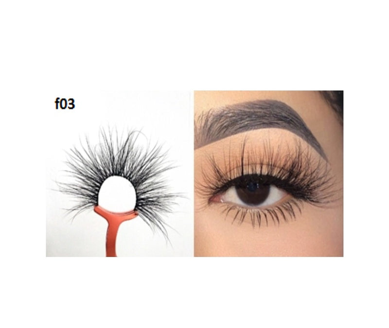 Faux Mink 5D Lashes #F3 - MQO 12 pcs