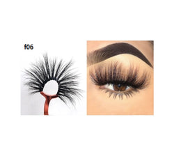 Faux Mink 5D Lashes #F6 - MQO 12 pcs
