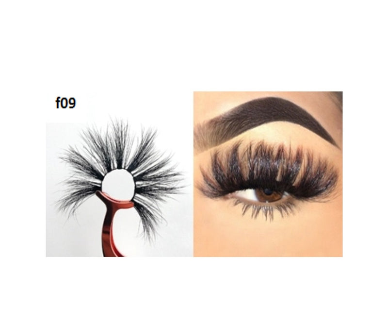 Faux Mink 5D Lashes #F09 - MQO 12 pcs