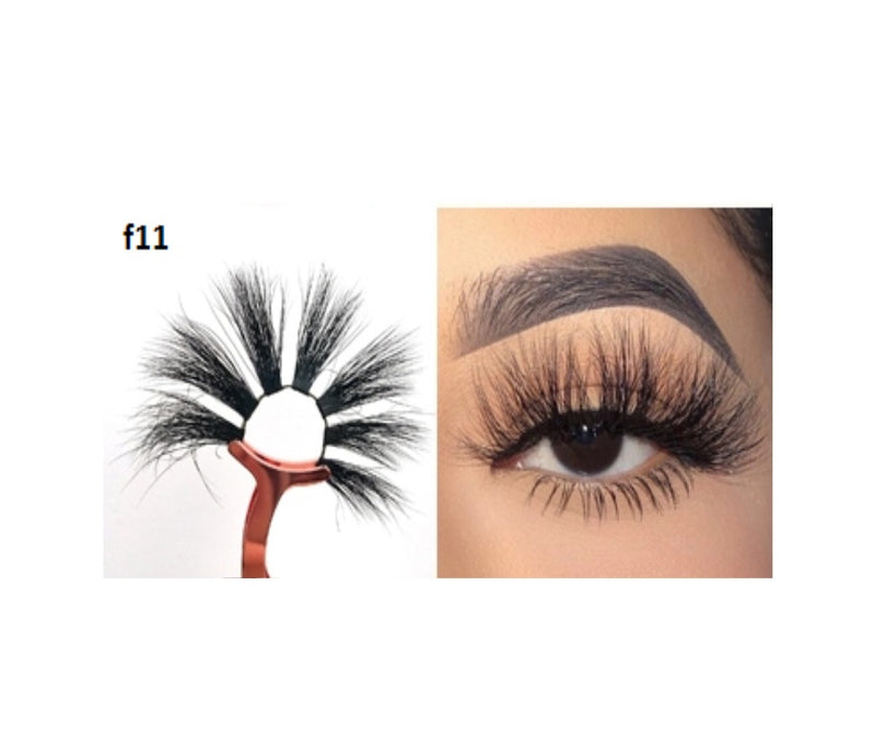 Faux Mink 5D Lashes #F11 - MQO 12 pcs