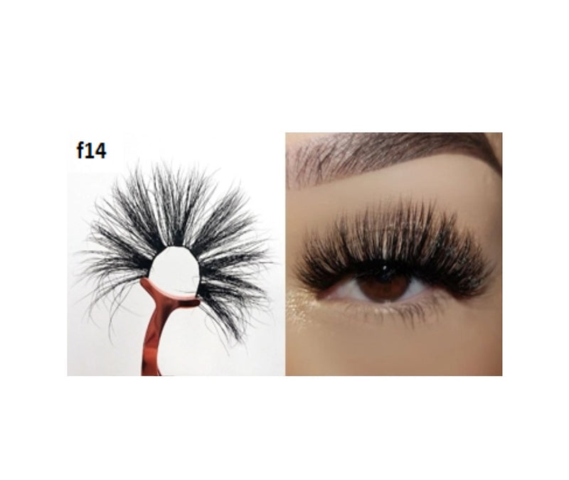 Faux Mink 5D Lashes #F14 - MQO 50 pcs