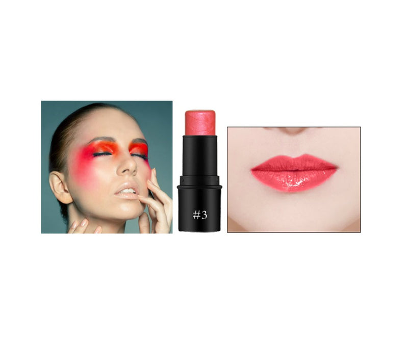 Our 3-in-1 Cream Blush Stick delivers Bold, Waterproof Color For Your Lips, Cheeks + Eyes. This weightless cream formula melts seamlessly into your skin for a  soft, youthful, healthy beautiful glow that lasts for 24 Hours! Waterproof wear infused with Anti-Aging botanicals to create that perfect look!     Can be hot stamped with your logo! Inquire at info@tashcosmetics.com