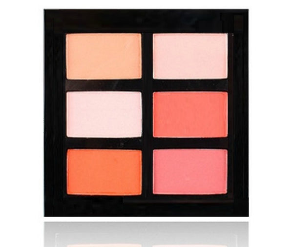 This fabulous 6 shade blush palette is full of color! With both warm and cool tones to compliment any skin tone. Offers silky matte and satin finishes with 6 perfectly selected blushes in one perfect compact palette, and there are 2 palette choices for you to choose from. Choose one or both!  What's not to love? Your options are endless. This palette is perfect for all skin tones. Comes in a sleek black case ready for your logo!