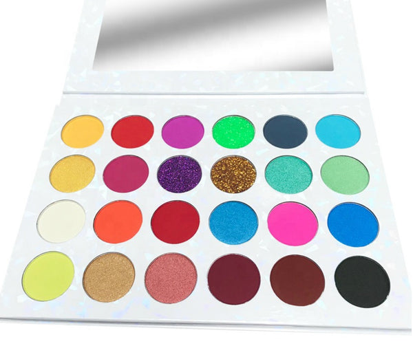 NEW 2020! 24 Shade Pressed Shimmer-Glitter Eyeshadow Palette - MQO 12 pcs