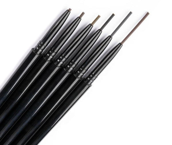 Waterproof Slim Eyebrow Pencil w/Spoolie Brush - MQO 12pcs