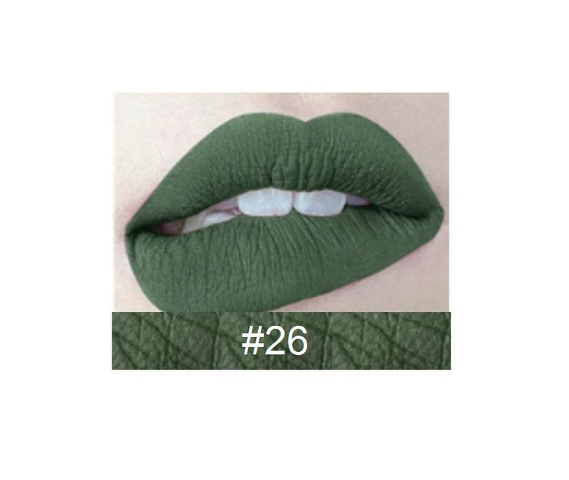 30 Shade Liquid To Matte Lipstick Waterproof MQO 12pcs