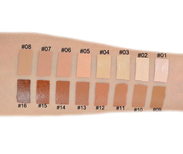 Full Coverage Liquid Foundation in 16 Shades w/SPF - MQO 50 pcs