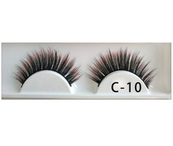 3D Colorful Lashes #C10 - MQO 12 pcs