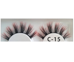 3D Colorful Lashes #C15 - MQO 12 pcs