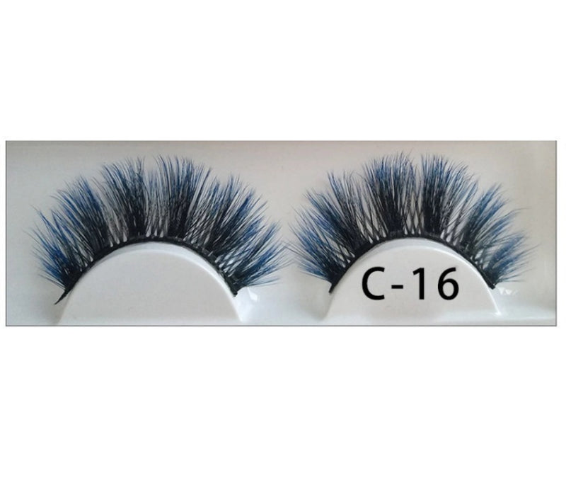 3D Colorful Lashes #C16 - MQO 12 pcs