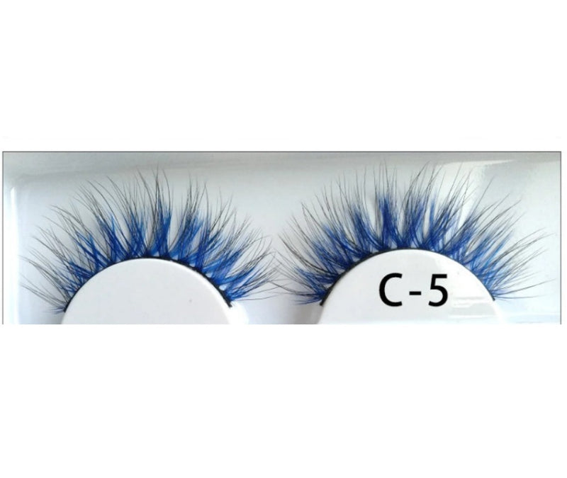 3D Colorful Lashes #C5 - MQO 12 pcs