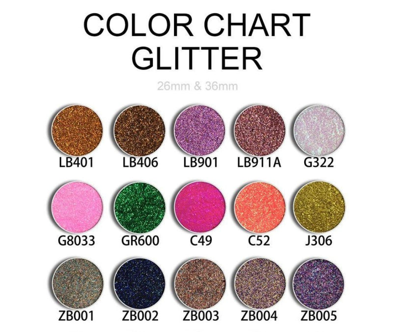 DIY Custom Galaxy Single 1 Shade Eyeshadow Palette - MQO 100 pcs