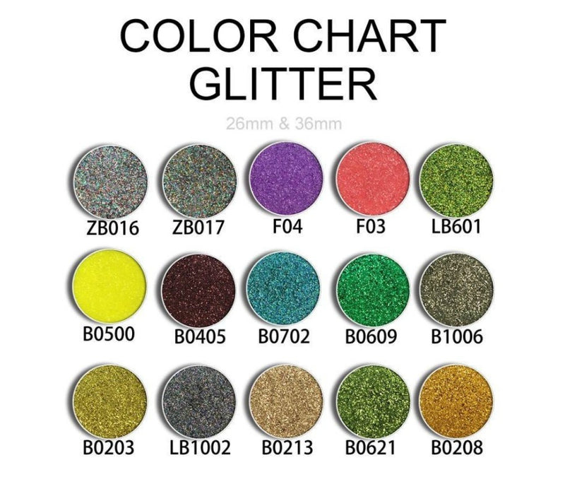 DIY Custom Sparkly Diamond 13 Shade Palette with Mirror - MQO 100 pcs