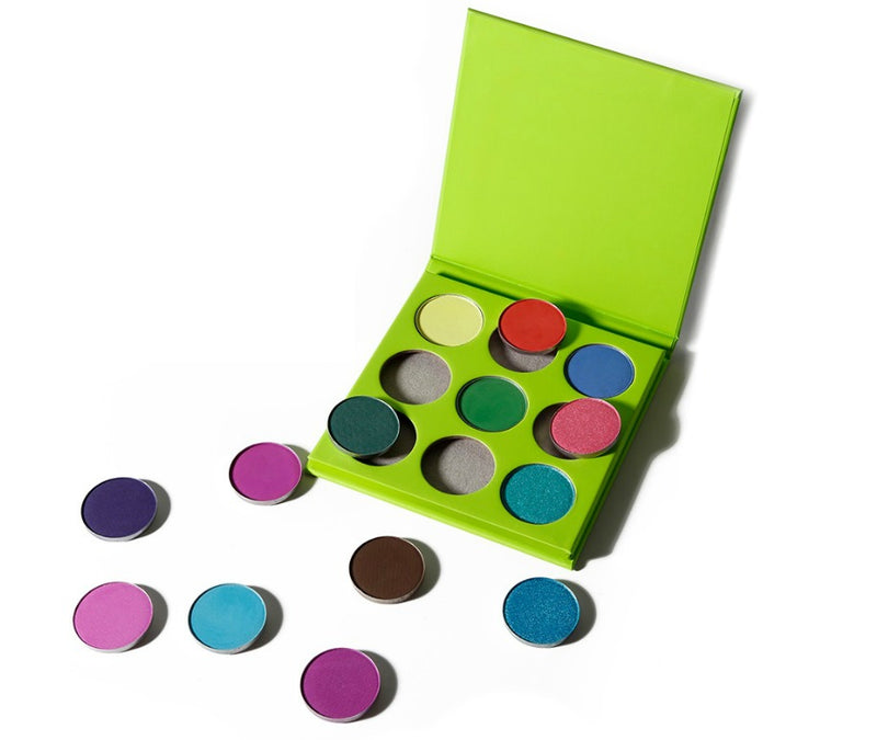 Green Case 9 Shade Pallet - MQO 50 pcs