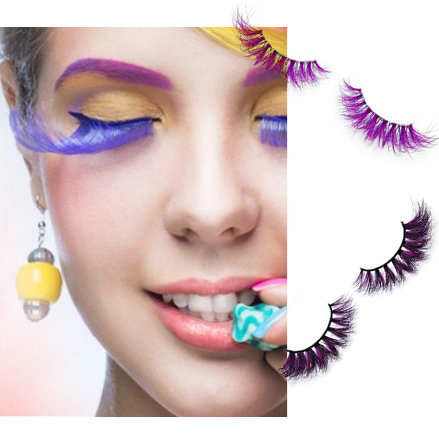 3D Colorful Lashes #C1 - MQO 12 pcs