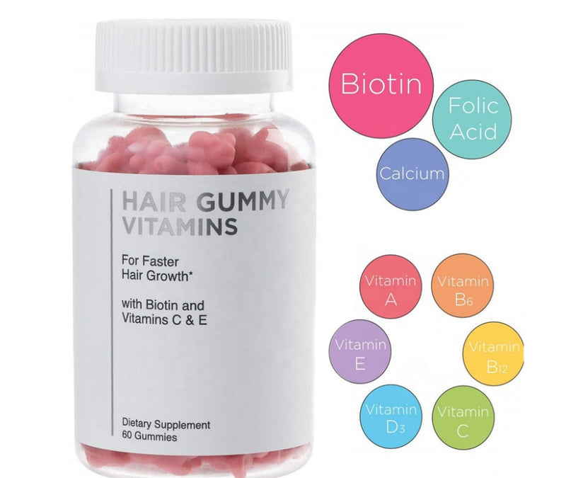 Pink Biotin Gummies - Hair Skin Nail Growth - MQO 12 pcs