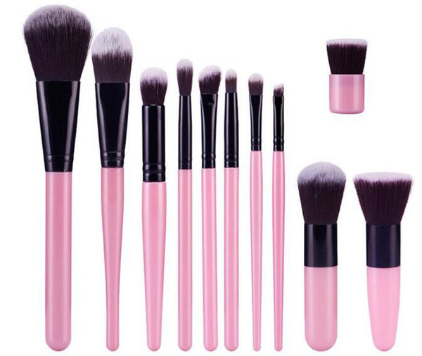11 pc Pro Sleek Brush Set 2 styles - MQO 12 pcs