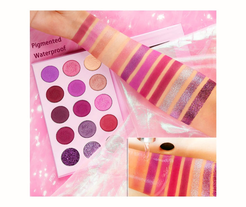 15 Shade Purple Passion Eyeshadow Palette - MQO 12 pcs