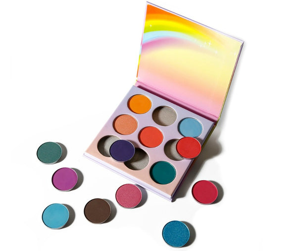 Rainbow Case 9 Shade Pallet - MQO 50 pcs