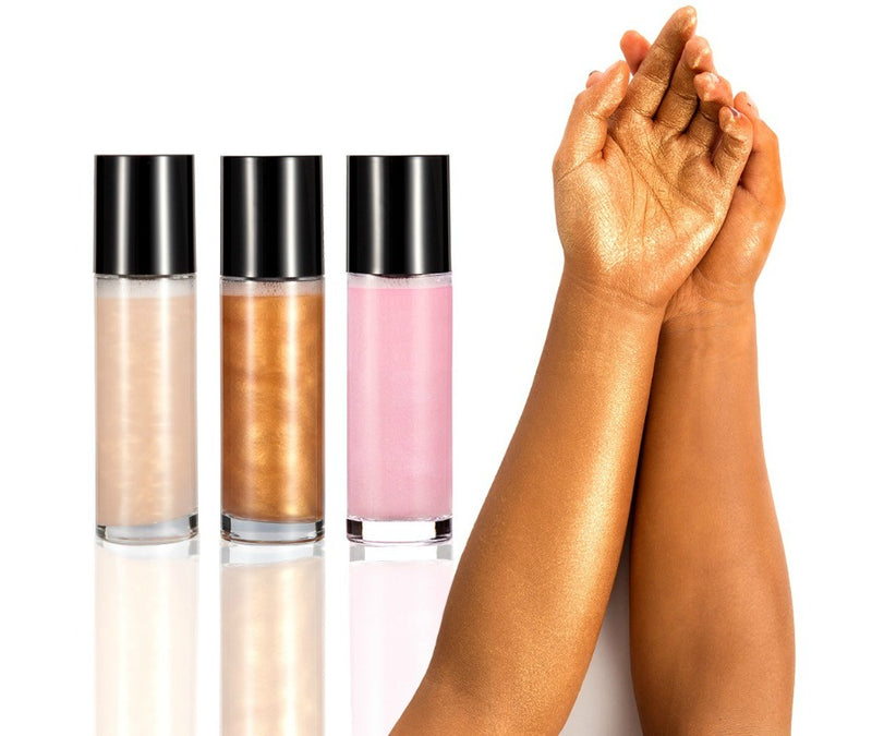 Pink - Face and Body Shimmer Highlighting Spray - MQO 50 pcs