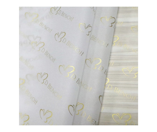Recyclable White Silk Tissue Paper 18gsm w/logo