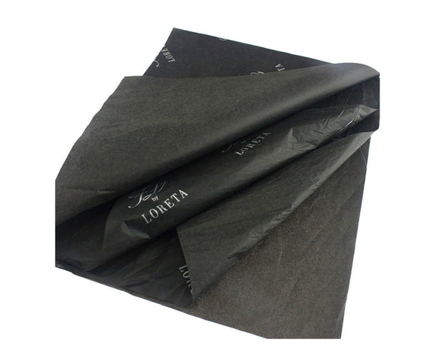Recyclable Eco-friendly Black Tissue Paper 17gsm w/logo