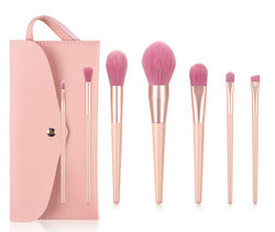 7 pc Pro Sleek Pink and Rose Gold Brush Set - MQO 12 pcs