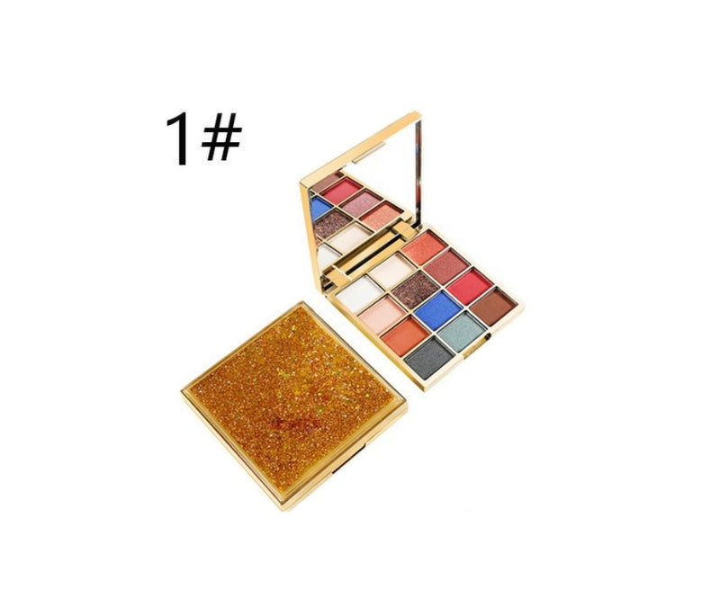 New! Dazzle Case Eyeshadow Palette High Pigment - MQO 12 pcs