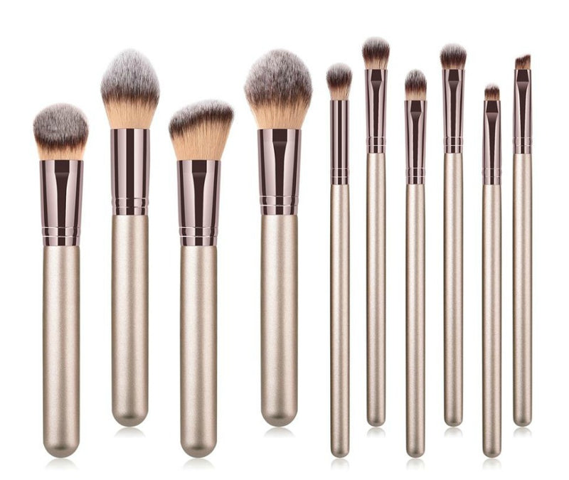 Private Label Pro 10pc Makeup Brush Set w/Case - MQO 12 pcs