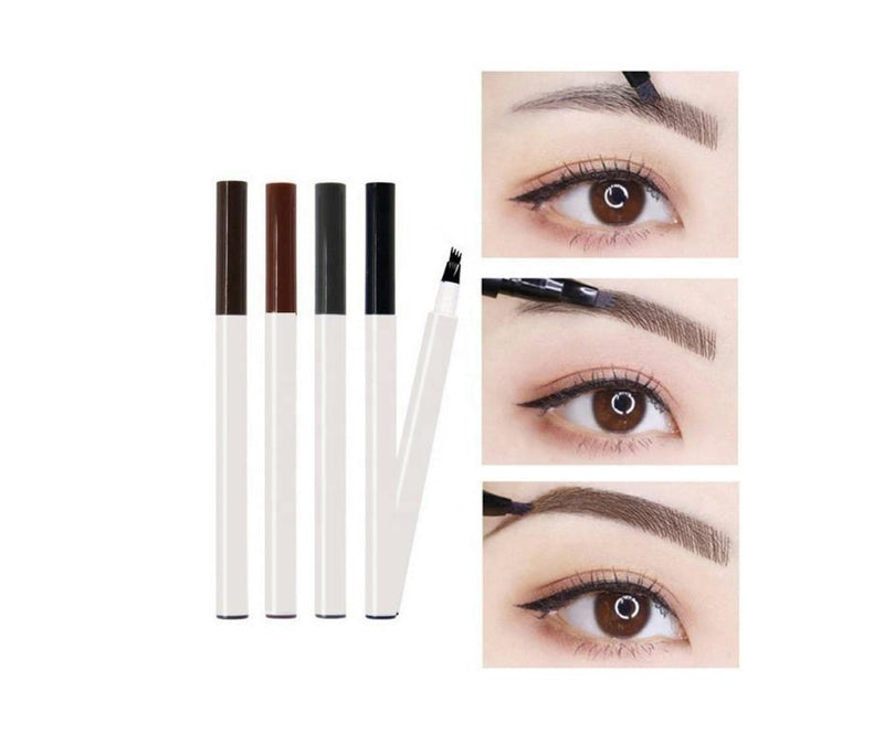 Our Waterproof Eyebrow Marker Pen is a long-lasting, waterproof brow formula with an innovative, marker-like brush tip to create natural-looking, hair-like strokes.  The easy-to-use pen tip creates hair-like strokes so brows look naturally-full, finished, and defined. It glides on smooth and won't smudge or run. Try using  multiple colors and balayage your brows!     Can be hot stamped with your logo! Inquire at info@tashcosmetics.com