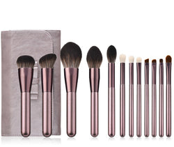12 Piece Pro Brush Set w/Stylish Bag - MQO 12 pcs