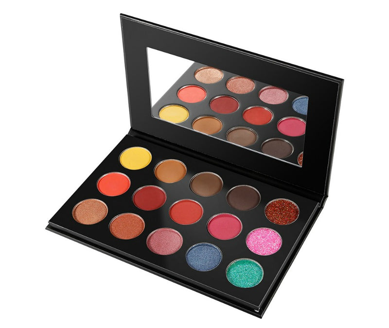 Black Case 15 Shade DIY Palette - MOQ 50 pcs
