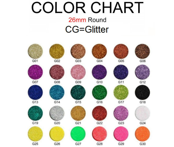 CS Single Pan Glitter Eyeshadows - 26mm