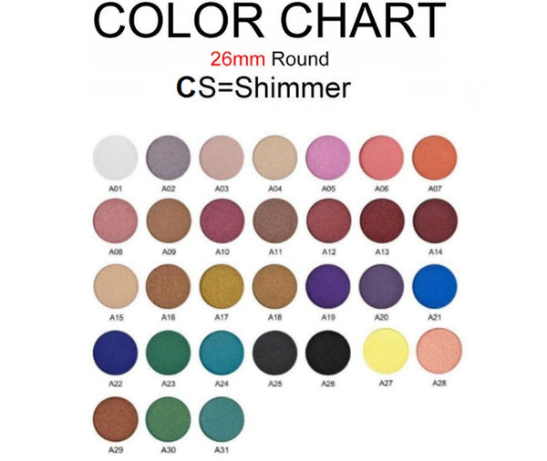 CS Single Pan Shimmer Eyeshadows - 26mm